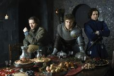 #TheWhiteQueen (Starz) David Oakes, Max Irons and Aneurin Barnard