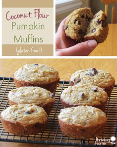 Coconut Flour Pumpkin Muffins - Super healthy, gluten-free, and yummy!