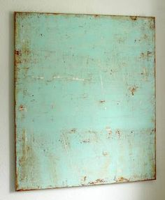 """""""Rusty Mint,"""" original abstract painting by artist Christian Hetzel (Germany) available at Saatchi Art #SaatchiArt"""