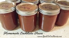 This homemade enchilada sauce is great for either freezing or canning, and the fire-factor is whatever level you want it to be. Best Enchiladas, Homemade Enchiladas, Canning Asparagus, Best Enchilada Sauce, Food Mills, Preserving Food, Canning Recipes, Stuffed Hot Peppers, Food Hacks