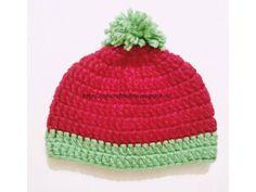 Raji's Craft Hobby: Watermelon Bulky Yarn Baby Hat