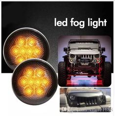 Round Led Fog Lights Turn Signal Drl Black Color for Jeep Wrangler JK 2007-2015 LED Side Marker Lamps DC 12V Round Led Fog Lights Turn Signal Drl Black Color Side Marker Lamps Online with $66.66/Piece on Claire1688's Store | DHgate.com