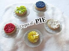5 Types of Pie - Polymer Clay Miniature Tutorial - YouTube