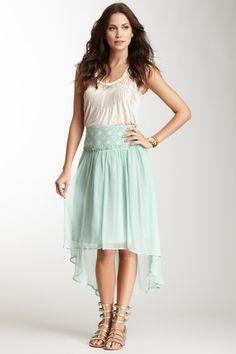 Blue Tassel Hi-Lo Silk Skirt from HauteLook on shop.CatalogSpree.com, your personal digital mall.