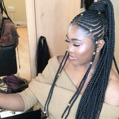 """944 Likes, 15 Comments - BraidsByFels (@houseoffels) on Instagram: """"Hooked the beautiful @ropo.demure with extra long Fulani braids ✨"""""""