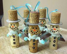 Come creare Jack Frost con dei tappi di sughero come lavoretto per Natale