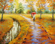 The Colorful Puddles .....STANISLAV SIDOROV was born into a family of artists. Now living in Colorado with his artist wife, he is a contemporary artist who utilizes bright colors in his work. His work is in private and public collections throughout the world.