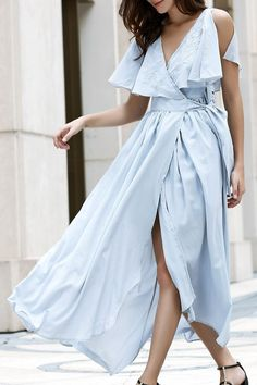 nice С чем носить шикарное голубое платье? (50 фото) — Длинные и короткие модели