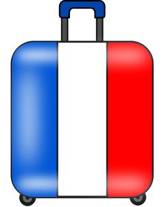 maleta suitcase valise by @andres_garcia, A draw of a modern suitcase, decorated with the French flag, on @openclipart