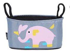 4-a-Kid - Pram Organizer - Pink Elephant