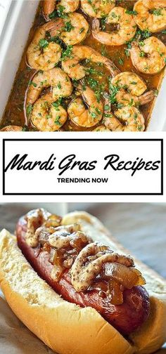 15 Top Mardi Gras Inspired Recipes // Everything from Cajun shrimp to creamy crawfish dip to sugar-dusted beignets, these New Orleans-style recipes are trending on social media for good reason. (Try New Recipes) Mardi Gras Food, Mardi Gras Party, Mardi Gras Appetizers, Shrimp Appetizers, Easter Appetizers, Cajun Shrimp Recipes, Seafood Recipes, Seafood Dip, Crawfish Recipes