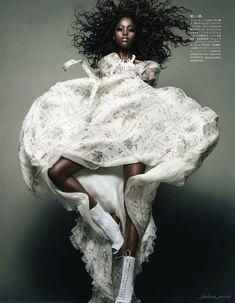 Nyasha Matohondze by Solve Sundsbo for Vogue Japan November 2011, Movement and Shape 05