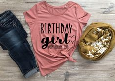 Trendy Birthday Girl Shirt Six Etsy Funny Shirts Women, Tees For Women, Shirts For Girls, Graphic T Shirts, Tee Shirts, 30th Birthday Shirts, Girl Birthday, Women Birthday, Birthday Gifts