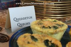 Quidditch Quiche and other creative brunch menu ideas for a Harry Potter party   FREE printable table tents   Loving Mountain Life