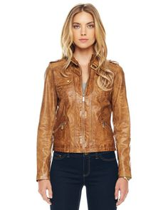 Leather Motorcycle Jacket by MICHAEL Michael Kors at Neiman Marcus.