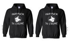 Cartoon Hands - Partners In Crime - Couple Hoodie - Couple Sweatshirt - Hoodie- Partners -Soul Mate - Mr Mrs-Sweatshirt - Hooded Sweatshirt