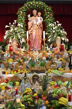Today is La Festa di San Giuse. Happy St. Joseph's Day. One of the elaborate altars, New Orleans.