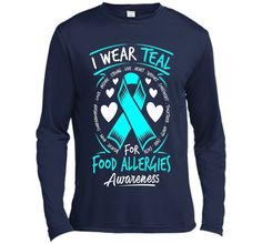 I Wear Teal For Food Allergies Awareness T Shirt t-shirt