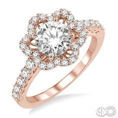 5/8 Ctw Diamond Semi-Mount Ring in 14K Rose/Pink Gold