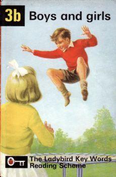 3B BOYS AND GIRLS Vintage Ladybird Book Key Words Matt Hardback Peter and Jane