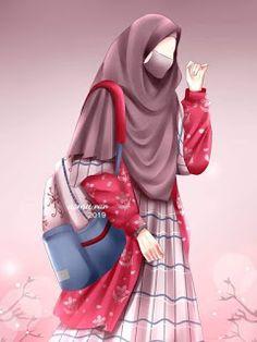 Islamic Cartoon, Anime Muslim, Hijab Cartoon, Hijab Niqab, Girl Hijab, Cartoon Art, Mehndi, Detektif Conan, Muslim Fashion