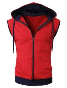 H2H Mens Active Sleeveless Zip Up Hoodie... http://www.hotzipuphoodies.com/h2h-mens-sleeveless-zip-hoodies/ #mens #red #sleeveless #zip #up #hoodie