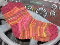 Truck Stop Socks - Hand Knit on the Road - MS AL by Calico Cat on ArtFire