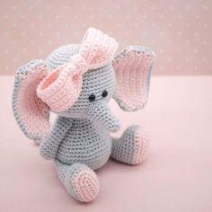 Amigurumi crochet pattern English Ellie the elephant image 1 Crochet Baby Cocoon, Crochet Bunny, Crochet For Kids, Crochet Animals, Free Crochet, Knit Crochet, Crochet Hooks, Crochet Gifts, Baby Patterns