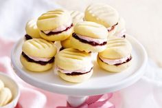 These rich buttery Lemon Melting Moment biscuits with Raspberry filling take just 10 minutes to bake. Plus other melting moments. Cookies from One Batch too! Melting Moments Biscuits, Melting Moments Cookies, Biscuit Cookies, Biscuit Recipe, Recipe Box, Shortbread Recipes, Cookie Recipes, Baking Recipes, Kingston Biscuits