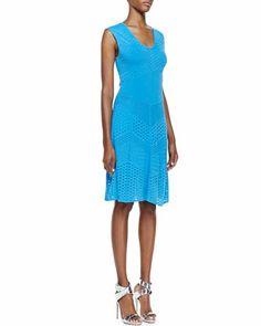 Chevron-Pointelle Knit Sleeveless Dress by Catherine Malandrino at Bergdorf Goodman.