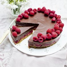 Chocolate and Raspberry Pie - Woman And Home