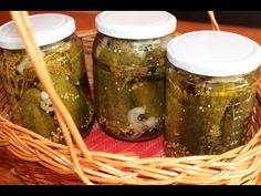 YouTube Preserves, Pickles, Cucumber, Mason Jars, Avocado, Food, Cupcake, Drinks, Youtube