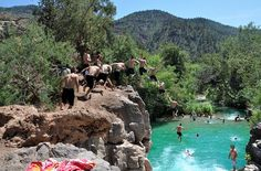 Fossil Creek Cliff Jump