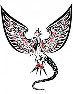 Tribal Phoenix tattoo design// really like the wings and the head Tribal Phoenix Tattoo, Phoenix Tattoo Design, Phoenix Tattoos, Tribal Tattoo Designs, Tribal Tattoos, Crow Tattoos, Mens Tattoos, Tatoos, Griffin Tattoo
