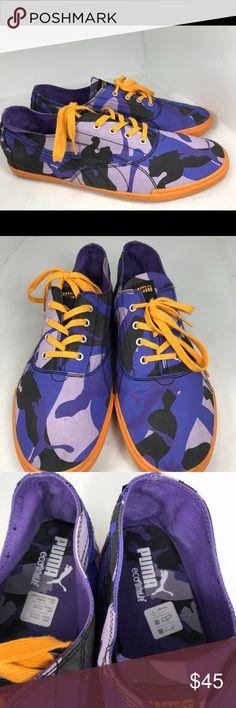 Puma tekkies contrast purple camo shoes men 12 Has some wear, marks, and scratches. See all photos. Puma Shoes Sneakers