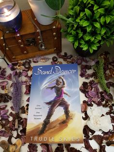 He's my attempt at bookstagram picture of Sand Dancer - a Young Adult Fantasy novel.