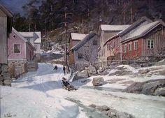 "Frits Thaulow ""Gade i Kragerø"" 1882"