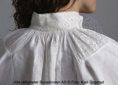 Blouse for Bunad Folk Costume, Costumes, Hardanger Embroidery, Thinking Day, Head Pieces, Aprons, Clothing Ideas, Norway, Needlework