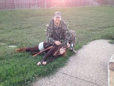 Best couples costume! The deer and the hunter. Classic.