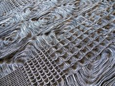 Waffle weave on jacquard loom Weaving Textiles, Weaving Art, Weaving Patterns, Loom Weaving, Hand Weaving, Geometric Nature, Jacquard Loom, Textures Patterns, Textile Art