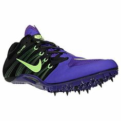 Nike Zoom Ja Fly Track Spikes Shoes Mens 55 BlackPurpleGreen Womens 65 *** Continue to the product at the image link.