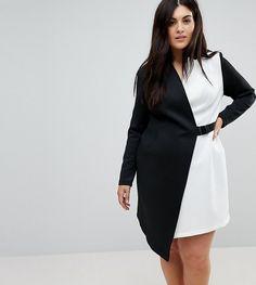 ASOS Curve ASOS CURVE Color Block Blazer Dress with Belt #ad#dresses#plussizefashion
