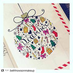 #Repost @bethhowsonmakeup (@get_repost) ・・・ 🎅🏼🎄Happy 1st December 🎄🎅🏼 #bulletjournal #december #2017 #favouritetimeoftheyear #lechturm1917