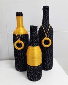 Wine Bottle Art, Glass Bottle Crafts, Diy Bottle, Jar Crafts, Craft Stick Crafts, Apothecary Jars Decor, Wedding Bottles, Bottle Lights, Bottle Painting