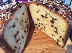 Inside the panettone