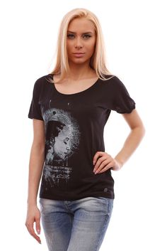 Women's black short-sleeved tee, fashionable loose t-shirt with stylish graphic #BrutalStreetLife #GraphicTee #streetwear #streetfashion #tees #tshirts #fashion #fashionista #fashionable #streetstyle