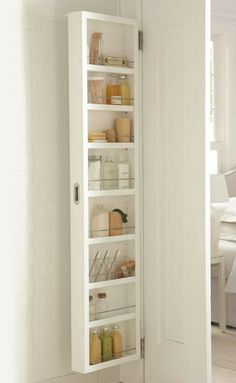 Eliminate clutter in your home without sacrificing space with the Concealable Door Storage; a perfect marriage of functionality and smart design.