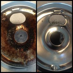 how to clean a drip pan from an electric stove top 1 soak drip pans 2 cover pans with a generous amount of sugar 3 start scrubbing the suu2026 - Drip Pans