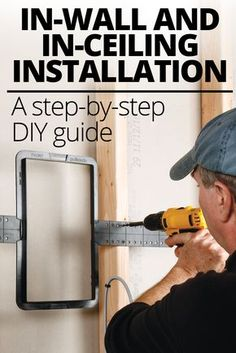 Installing in-wall and ceiling speakers - A step-by-step, do-it-yourself guide: Installing your own in-wall, in-ceiling, or on-wall speakers can give you a good-looking, great-sounding audio system. This guide includes detailed information to help you ins New Home Theatre, Home Theater Setup, Home Theater Rooms, Home Theater Seating, Home Theater Design, Movie Theater, In Wall Speakers, Home Speakers, Home Theater Speakers
