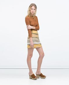 Image 1 of ETHNIC JACQUARD SKIRT from Zara